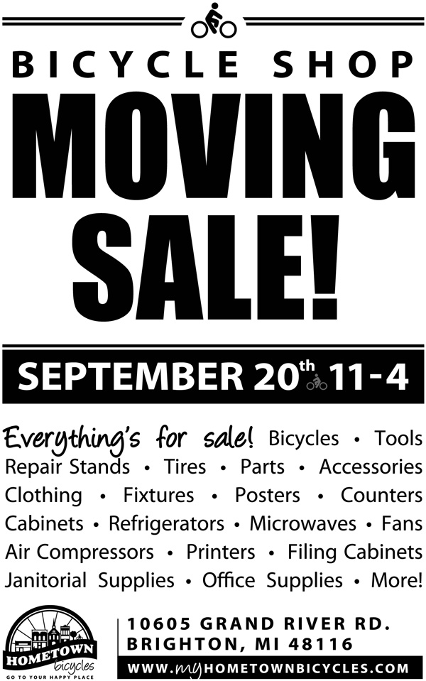 Hometown Bicycles - Bicycle Shop Moving Sale