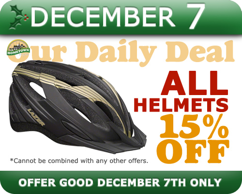 Hometown Bicycles Daily Deal for December 7, 2016: 15% OFF All Bicycle Helmets
