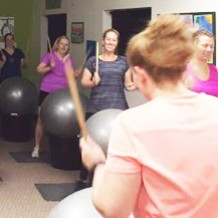 Cardio Drumming with Martha Soraruf at Hometown Bicycles