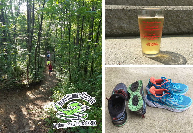 Hometown Bicycles' Amy Gluck wins 3rd Place in her Age Division at Maybury State Park's Road Runner Classic