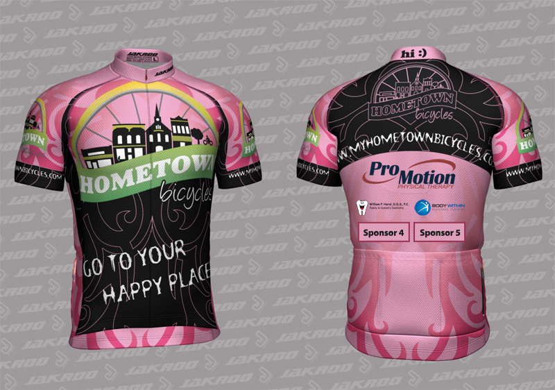 Hometown Bicycles Ladies Cycling Jersey in Pink