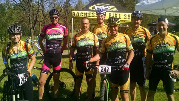Team Hometown Bicycles at mountain bike race