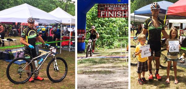Team Hometown Bicycles' Scott Simpson at the Lumberjack 100