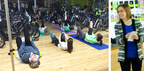 Hometown Bicycles Ladies Night Out: Spring Edition yoga and CEO Dawn Bhajan