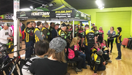 2018 Team Hometown Bicycles at the Kit Pick-Up Party