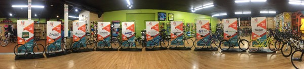 Ten Jamis bicycles donated by Hometown Bicycles for the 10th Anniversary Tour de Livingston