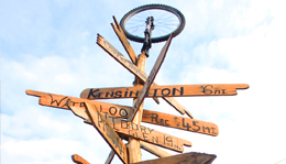 Mountain Bike Trail sign post at Hometown Bicycles