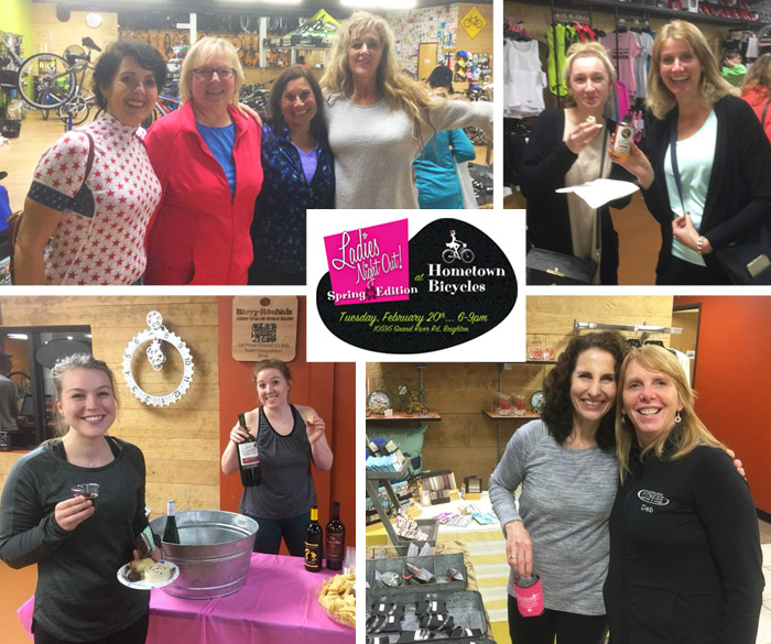 Making friends at Hometown Bicycles' Ladies Night Out: Spring Edition
