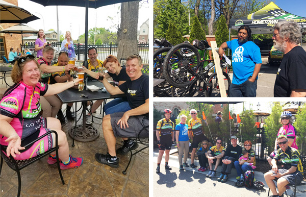 Team Hometown Bicycles at Poses, Pedals and Pints in Downtown Brighton