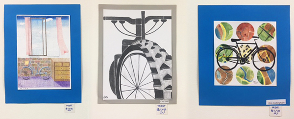 Pinckney High School bicycle art for sale at Hometown Bicycles