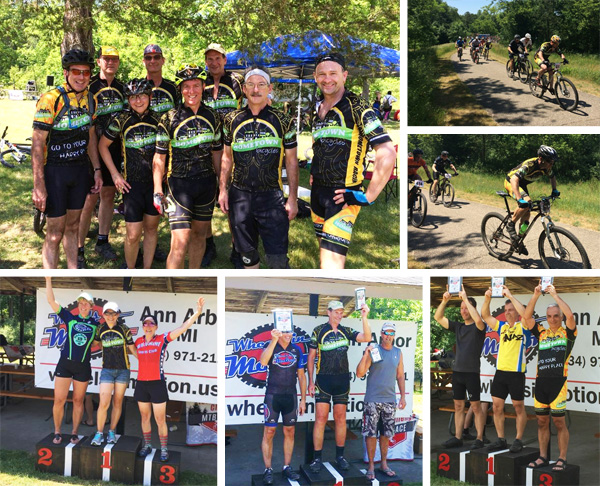 Team Hometown Bicycles at the Island Lake Challenge Spring Mountain Bike Race