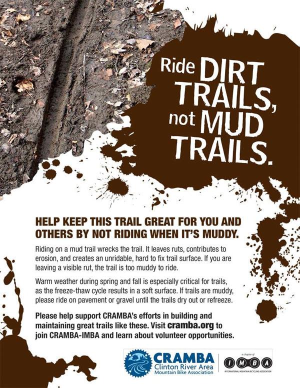 CRAMBA Ride Dirt Trails, Not Mud Trails flier