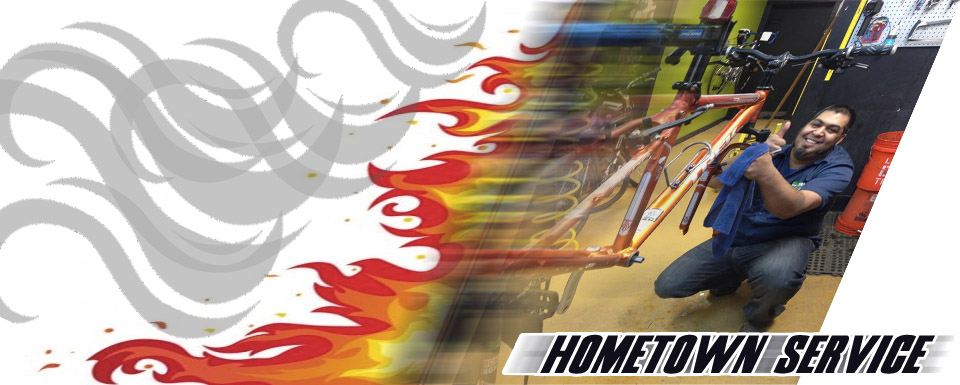 Hometown Bicycles - Offering 48-hour turnaround on service with in-stock parts!
