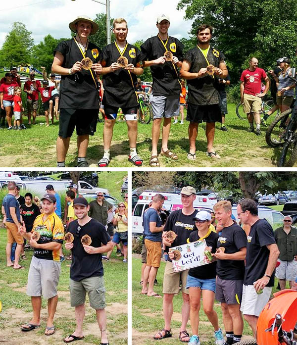 Team Hometown Bicycles at Novi Tree Farm Relay 2017