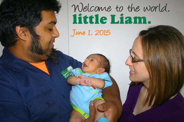 Shaun, Dawn, and little Liam