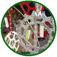 Bike gear ornament kids craft class at Hometown Bicycles