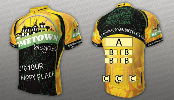 Team Hometown Bicycles jersey sponsorship slots