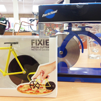 Bicycle pizza cutters