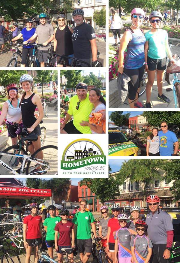 Riders of Doc May Memorial Melon Ride at Howell Melon Festival with Hometown Bicycles
