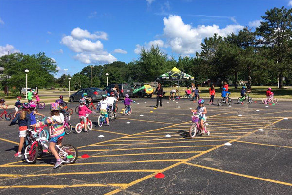 Hometown Bicycles runs Safety Town at Hilton Elementary