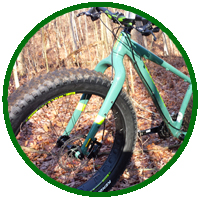 Jamis fat bike on the trail