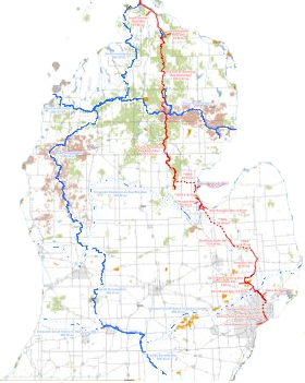 Michigan cycling trails