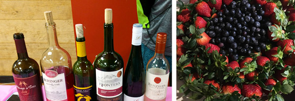 Wine, strawberries, and blueberries were just a few of the refreshments enjoyed by participants in the Hometown Bicycles Ladies Night Out: Spring Edition