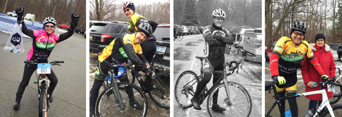 Team Hometown Bicycles riders at Waterloo G&G Gravel Road Race