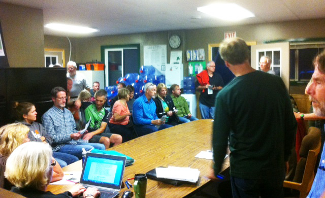 September 23, 2014 Friends of Island Lake meeting at the Park Office
