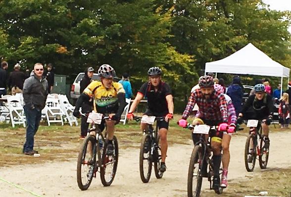 Michael Dyer of Team Hometown Bicycles at the Peak2Peak Mountain Bike Race 2016