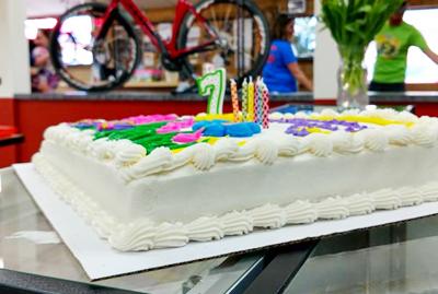 Hometown Bicycles Birthday Cake