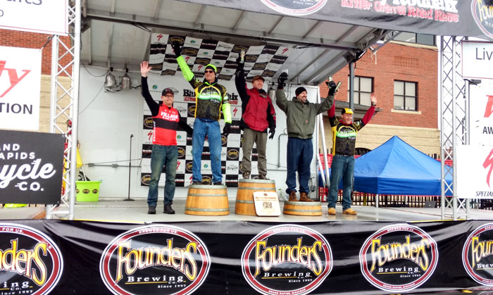 Team Hometown Bicycles podiums at Barry-Roubaix Killer Gravel Road Race with Mark Lang and Jim Cleer