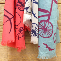 Bicycle scarves at Hometown Bicycles