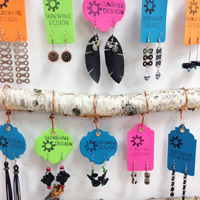 Bicycle inner tube, chain, and cable jewelry by Sunshine Design at Hometown Bicycles