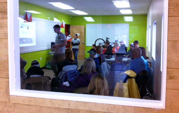"MI Adventure Club's ""Intro to Adventure Racing"" clinic at Hometown Bicycles"
