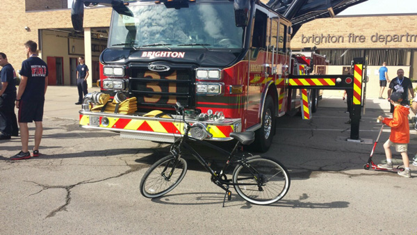 Bike at Brighton Fire Department