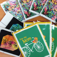 Mother's Day bicycle cards