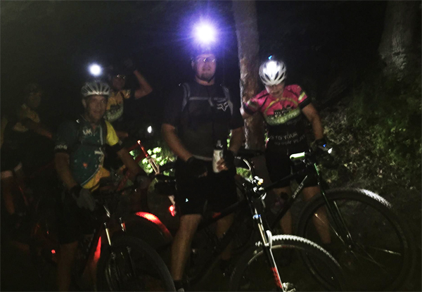 Night ride at Island Lake with Team Hometown Bicycles