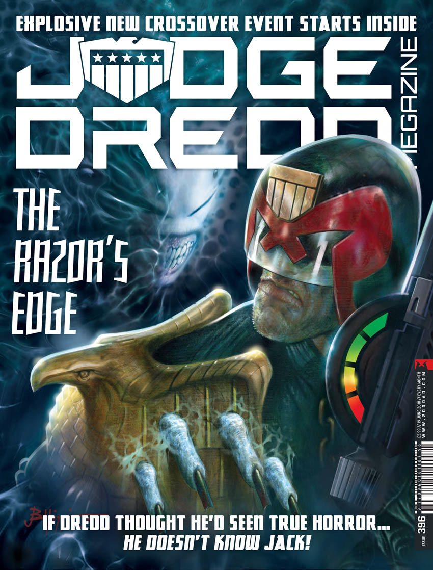 John Higgins cover for Judge Dredd Megazine