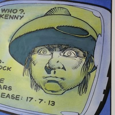 "Art for the 2000AD strip ""Kenny Who"" by Cam Kennedy"
