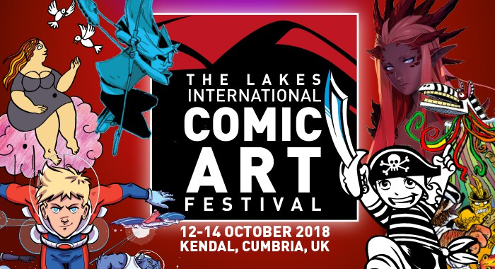 Lakes International Comic Art Festival 2018 Banner