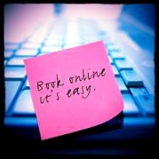 Book online - its easy