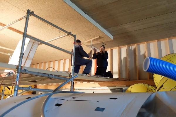 Isoleren plafond loods