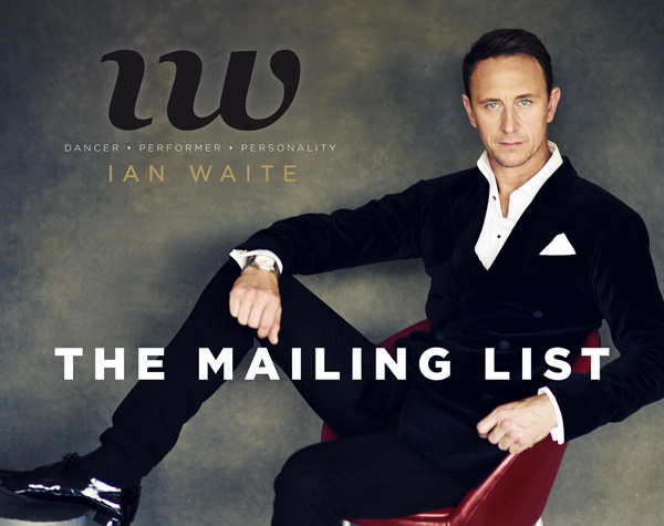 Ian Waite's News & Events Mailing List