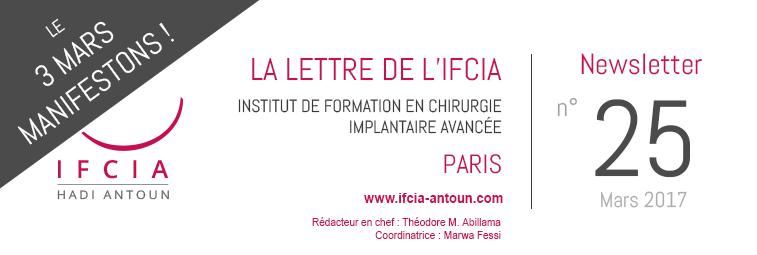 La Lettre de l'IFCIA - Dr Hadi Antoun, Paris - 22/02/2017