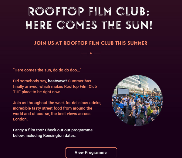 Join Us At Rooftop Film Club This July and August