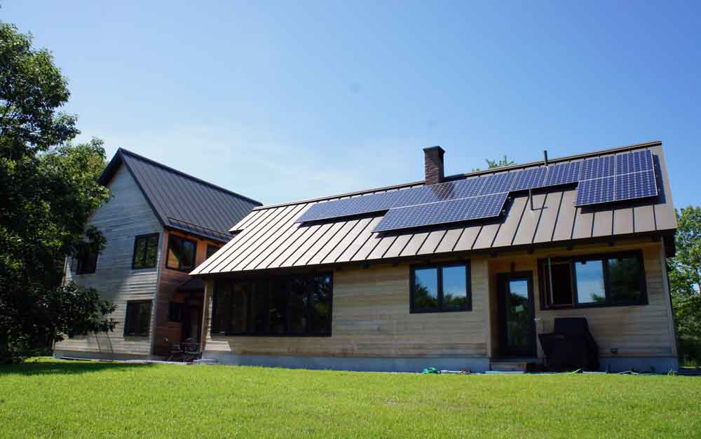 Solar Electric on a home in Brunswick
