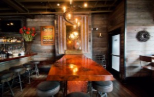 Reclaimed wood restaurant in Boston