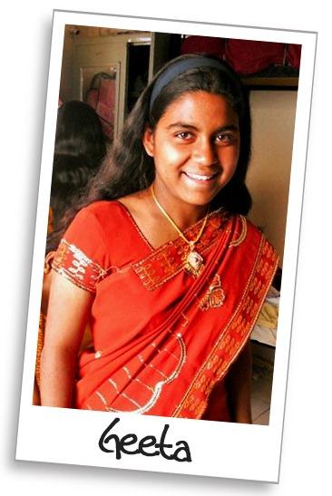 Geeta in traditional sari