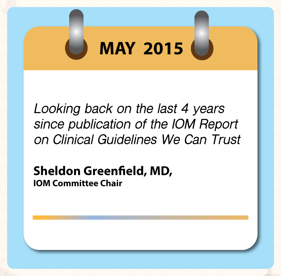Upcoming: Looking back on the last 4 years since the publication of the IOM Report
